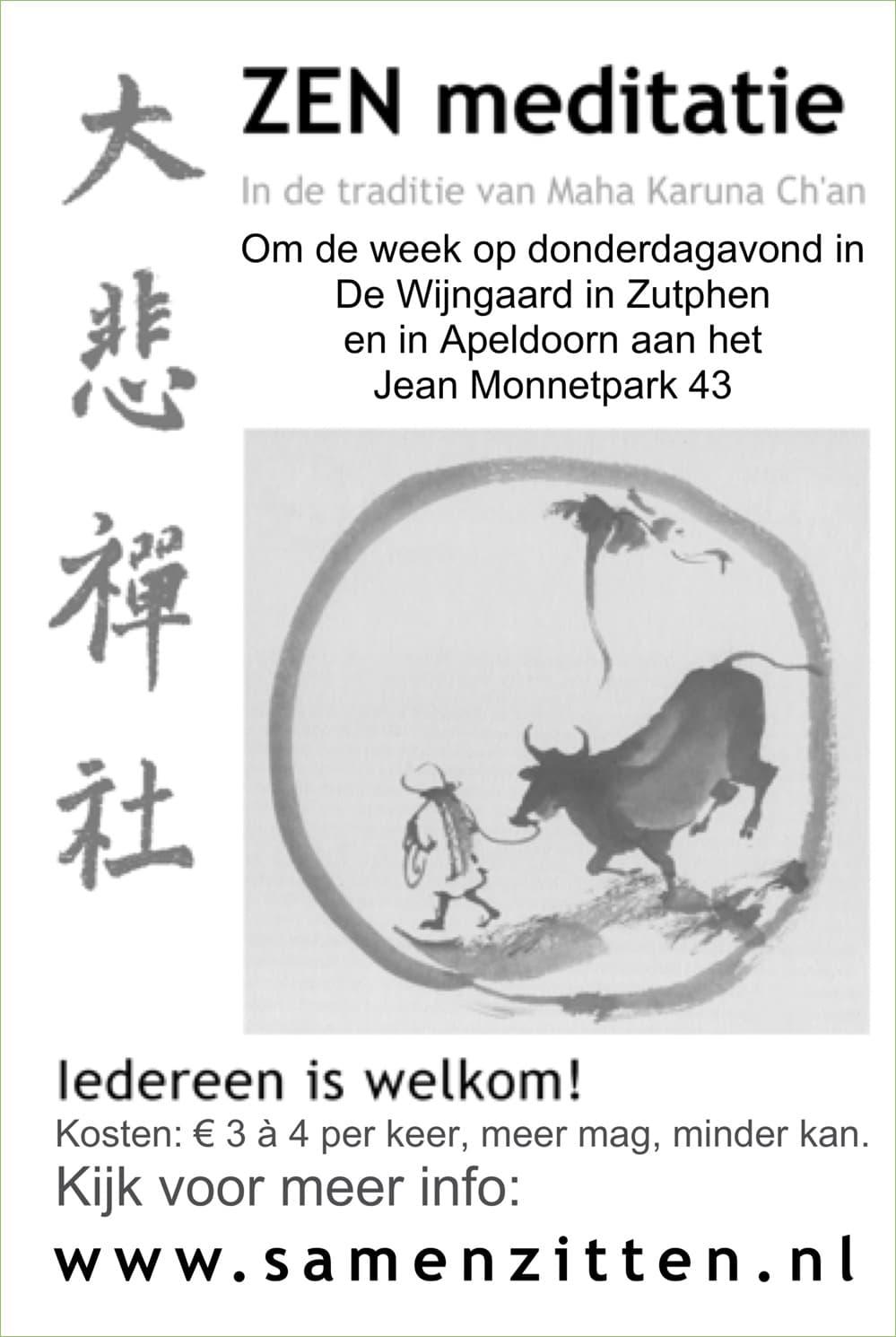 Samen Zitten, Zen-meditatie in Apeldoorn en Zutphen