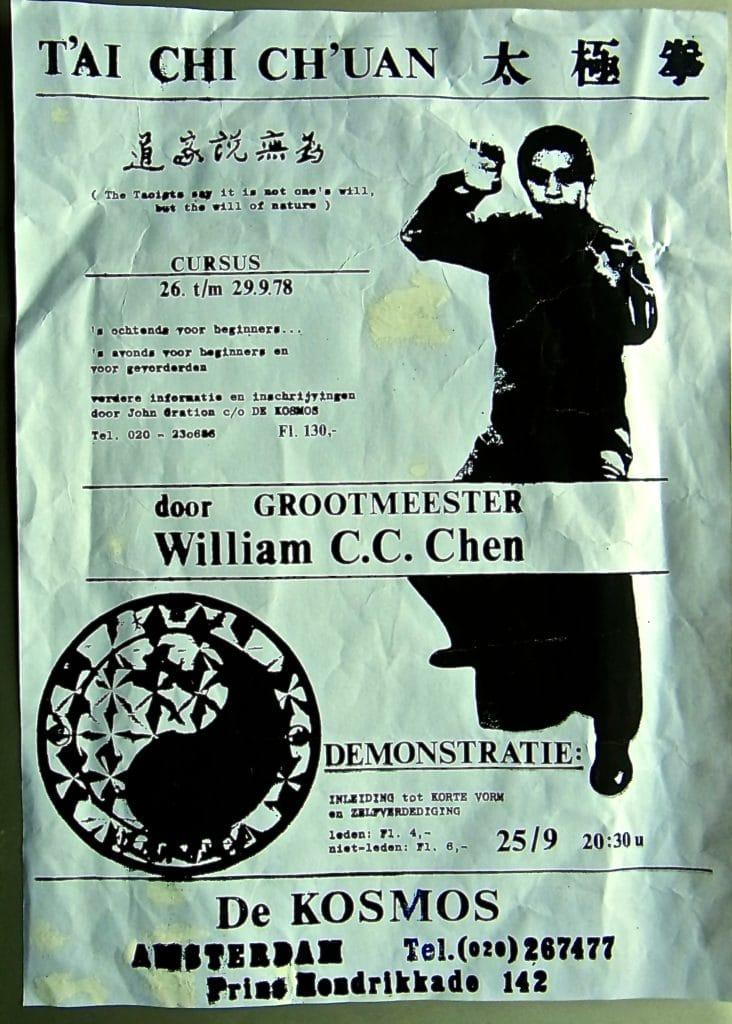 """Relax More - William C. C. Chen werd door Kwee Swan Ho in 1978 voor het eerst uitgenodigd in """"De Kosmos"""" te Amsterdam"""