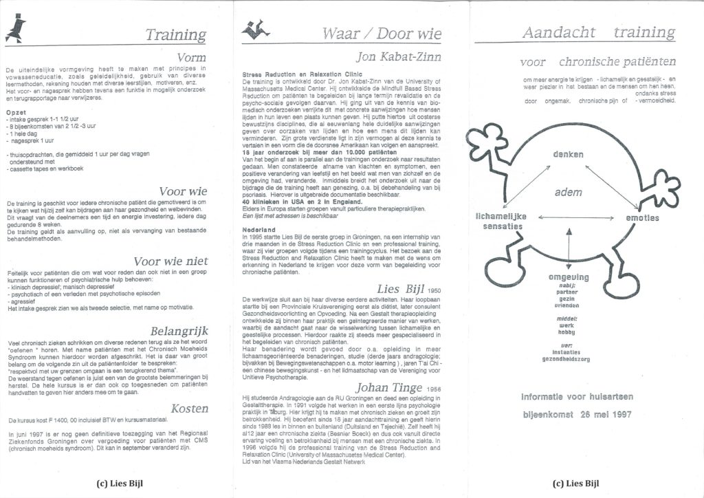 Relax More - Mindfulness: van Amerika naar de Groningse klei (2) - Klik voor een PDF weergave - (c) Lies Bijl