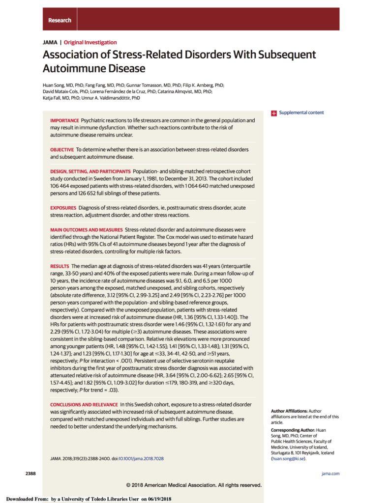 Relax More - PTSS en auto-immuunziekten