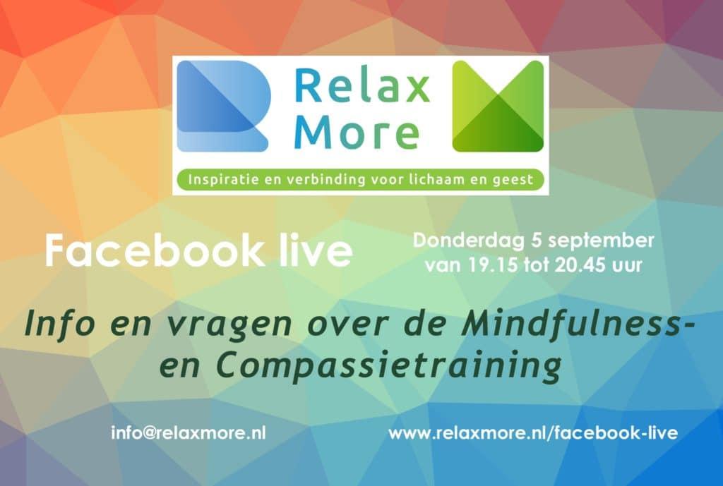 Relax More - Kennismaken en vragen stellen via Facebook Live