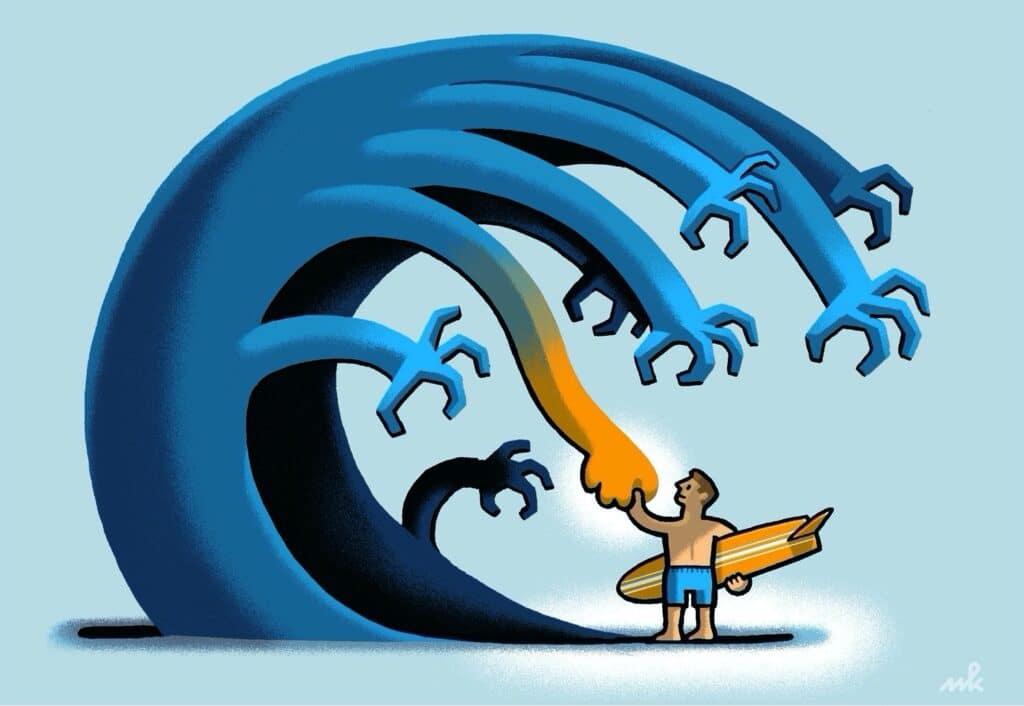 Mindfulness / MBSR - Je kunt de golven niet tegenhouden, maar wel leren surfen. Trainen? Bij Relax More!