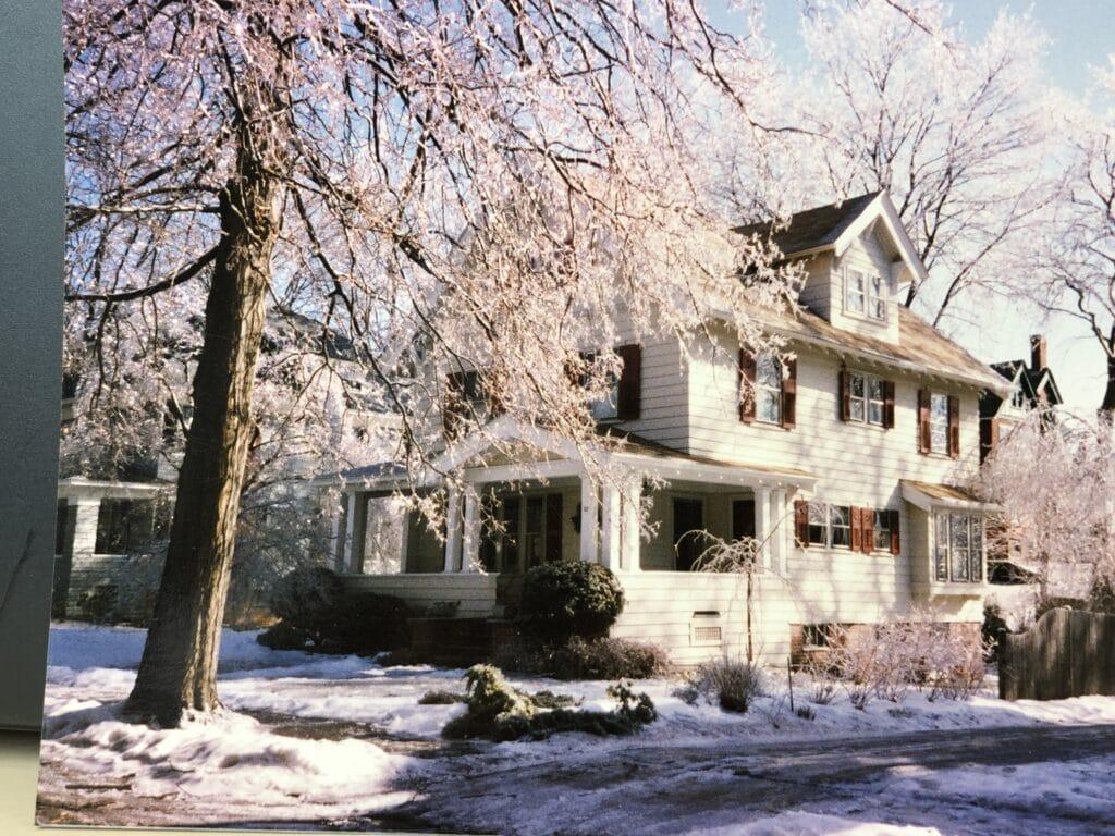 Lies' verblijfplaats tijdens haar Internship Mindfulnesstrainer in Massachusetts, winter 1994.